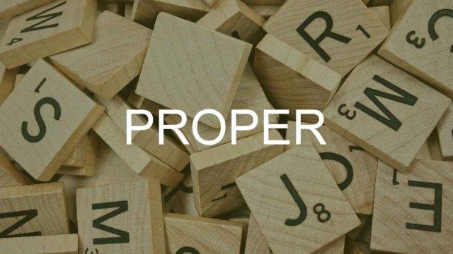 PROPER関数