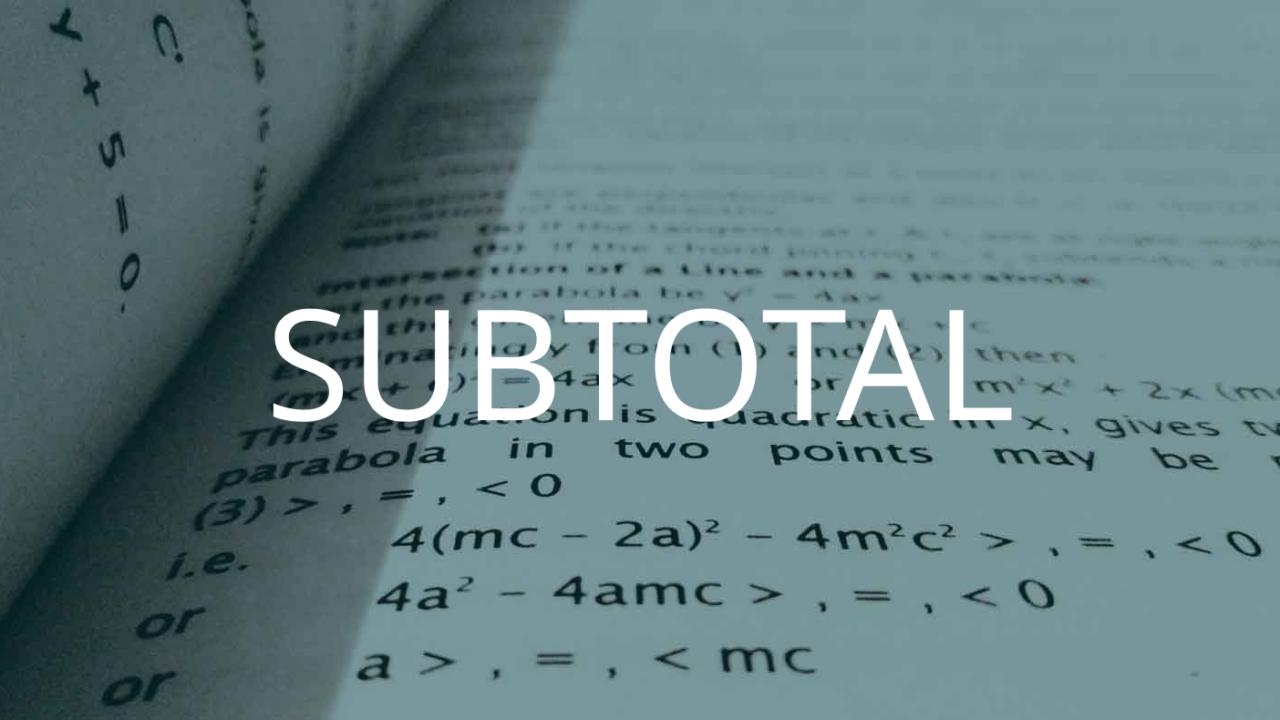 SUBTOTAL関数