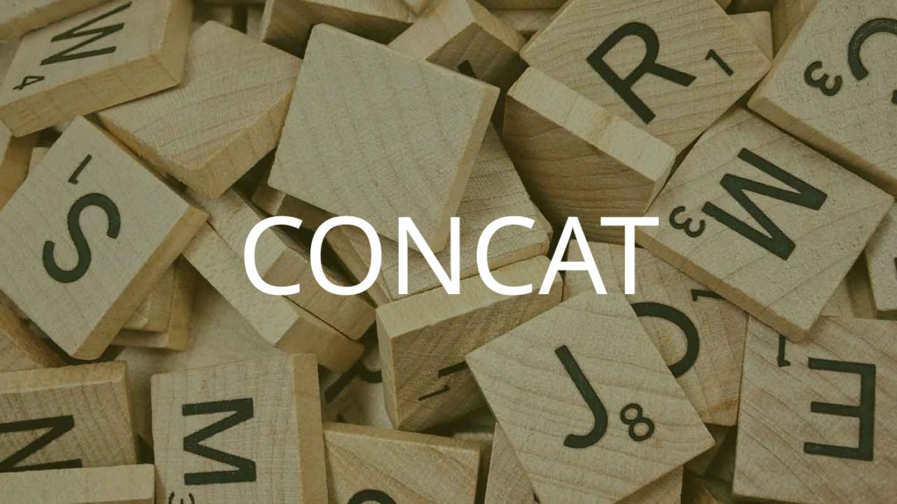 CONCAT関数